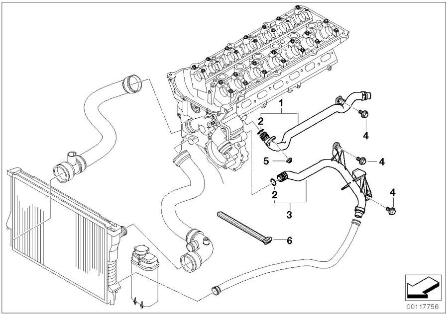 2003 bmw 325i cooling system parts diagram  bmw  auto