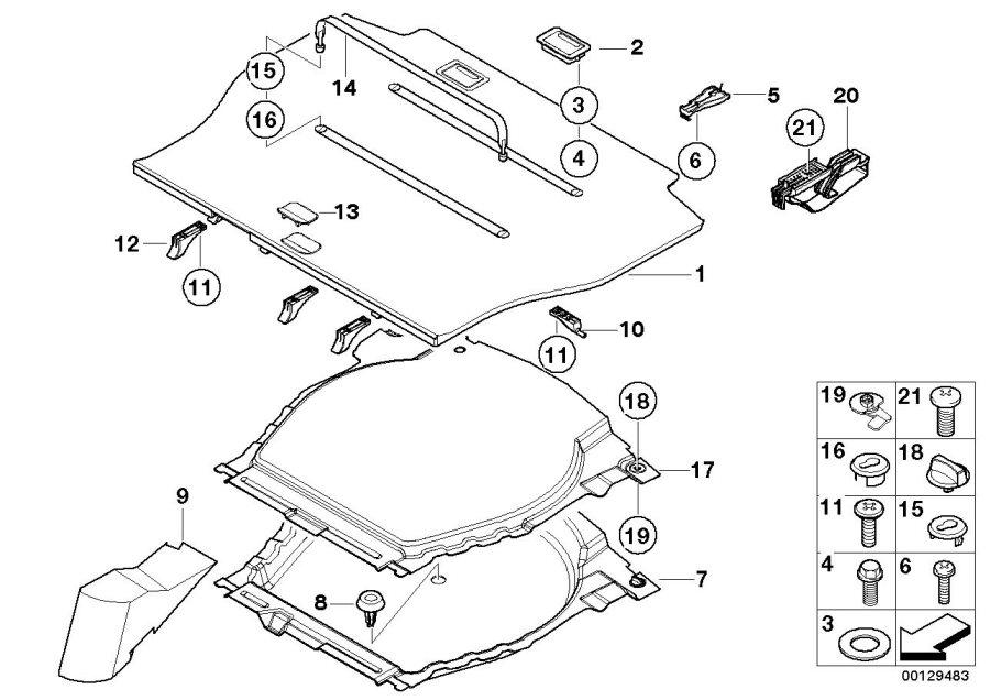 51478136450 bmw tensioning strap black l 590 mm rex. Black Bedroom Furniture Sets. Home Design Ideas