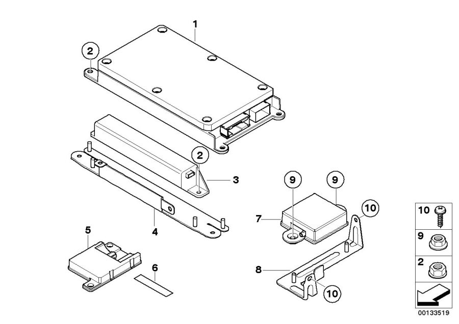 2005 Bmw E63 M6 Trunk Fuse Box Diagram