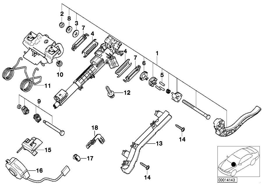Bmw 328i Steering Angle Sensor  Column