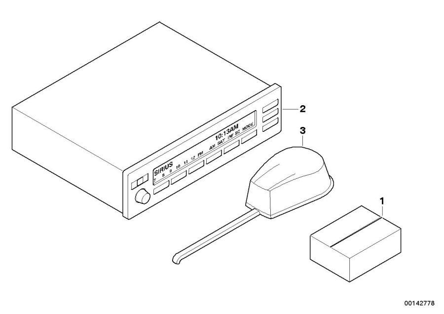 84110141976 Bmw Installation Kit E46 53 Sirius Bmw