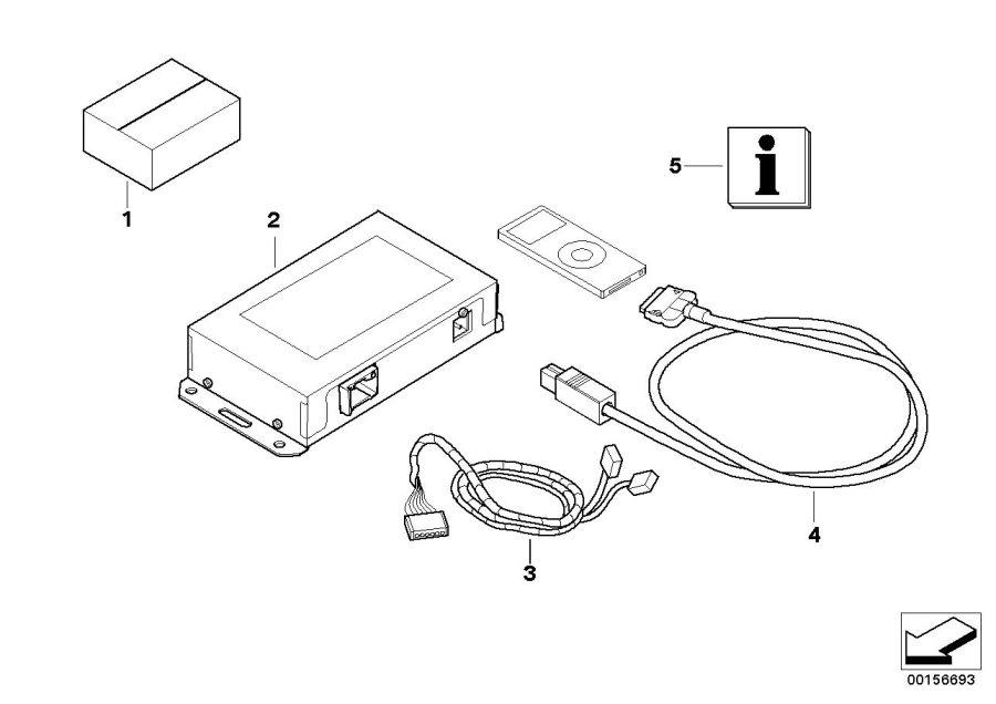 bmw 750li cable adapter 61120412795 bmw stratham nh. Black Bedroom Furniture Sets. Home Design Ideas