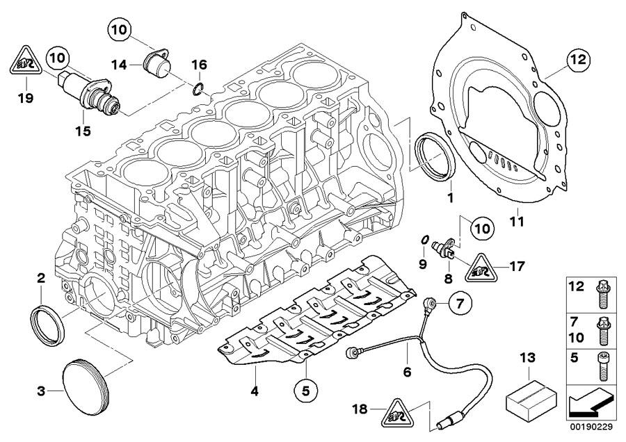 2007 bmw 328i o-ring  19x1 8  engine  mounting  housing  block