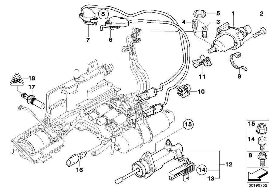 Bmw 645ci Clutch Position Sensor Kit  Actuator  Transmission  Smg