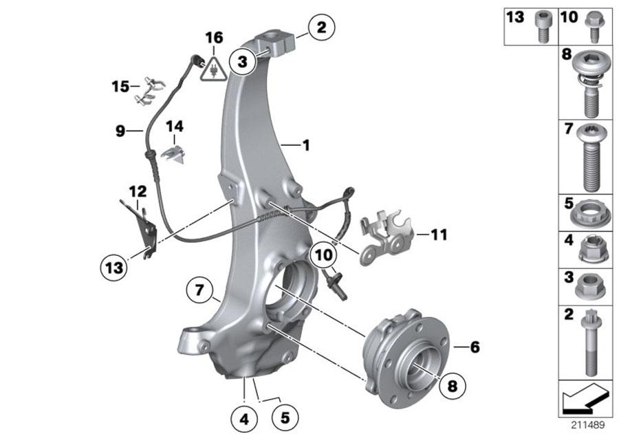 Bmw X3 Wheel Hub With Bearing  Front  Alpina  Suspension