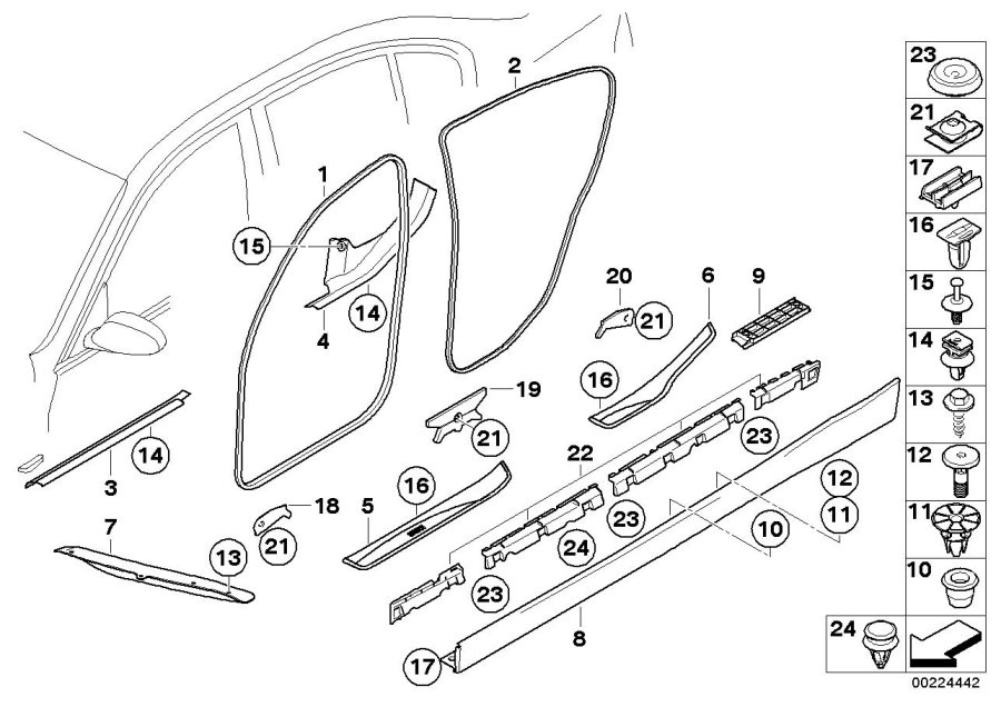 2006 bmw 325i interior parts diagram