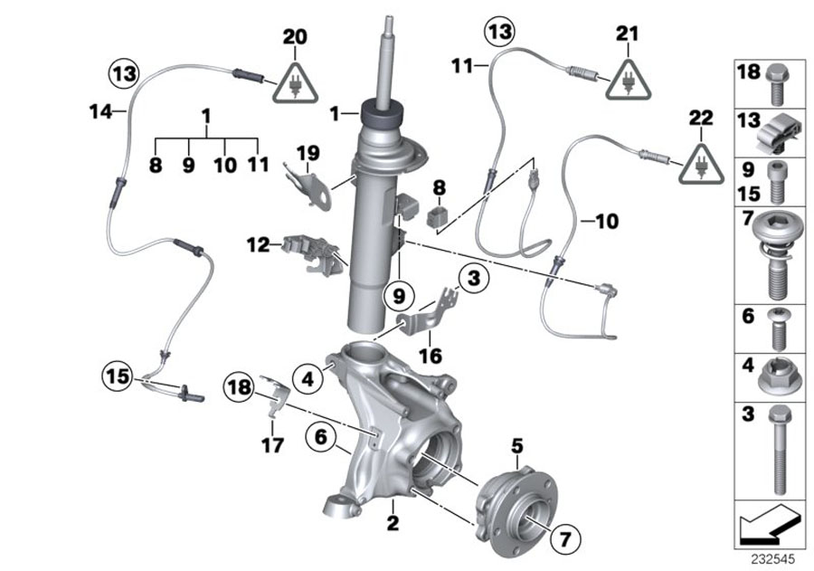 bmw x3 front suspension diagram