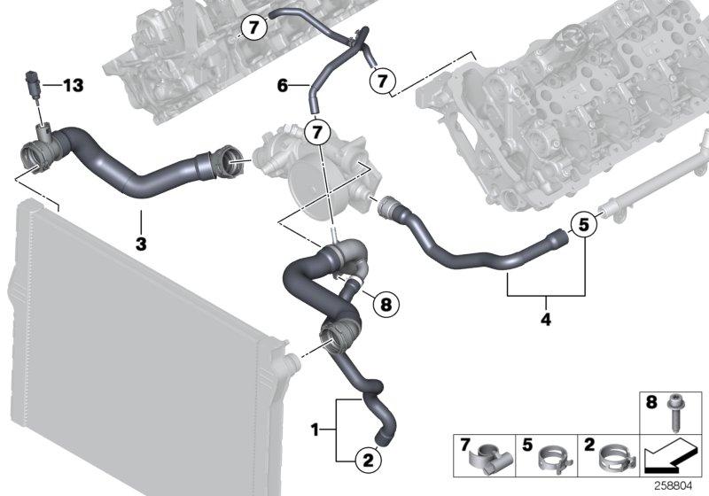 Bmw X5 Temperature Sensor  Coolant  Alpina  Hoses  Cooling