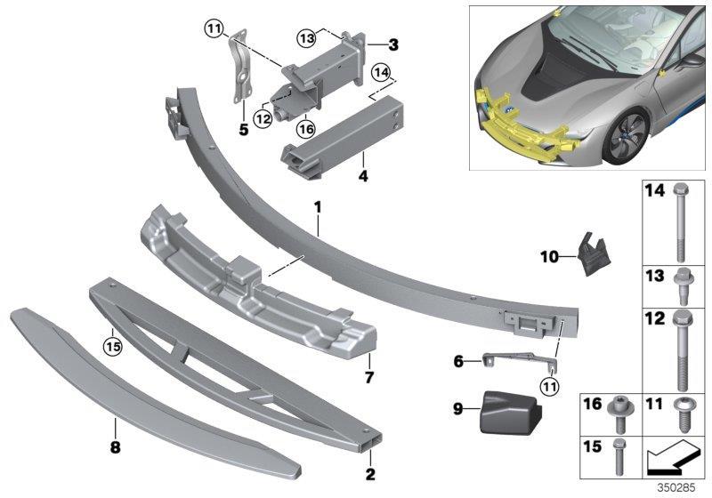 bmw i8 shock absorber front left 51117351807 bmw stratham nh