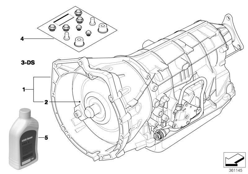 2002 bmw 530i torque converter  u61  transmission