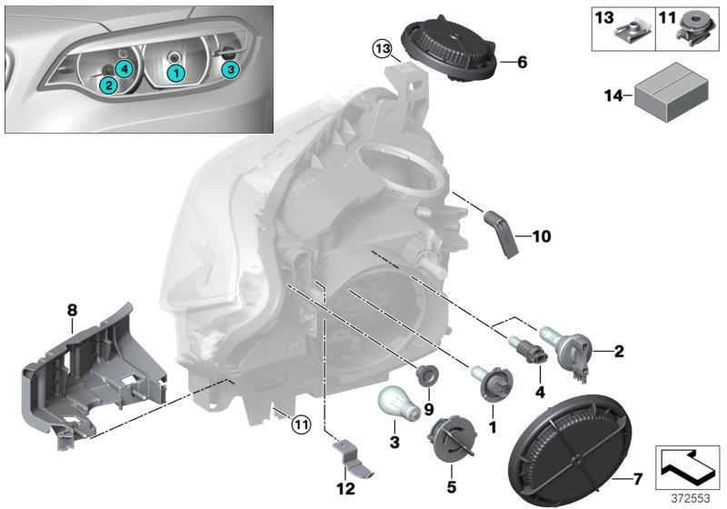 Bmw 328i Longlife Bulb  12v 6w Halogen  Headlight