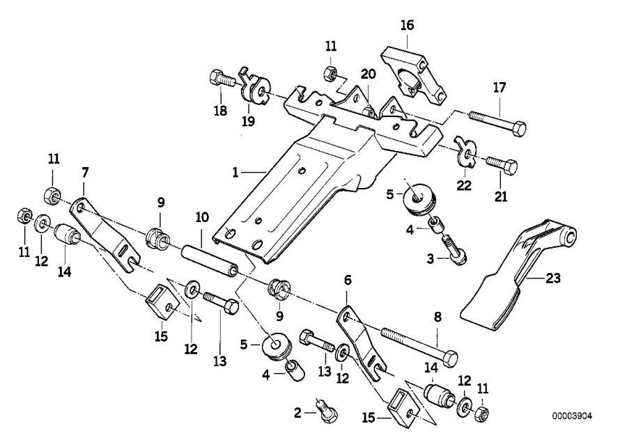 1994 bmw 530i hex bolt  alternatormounting