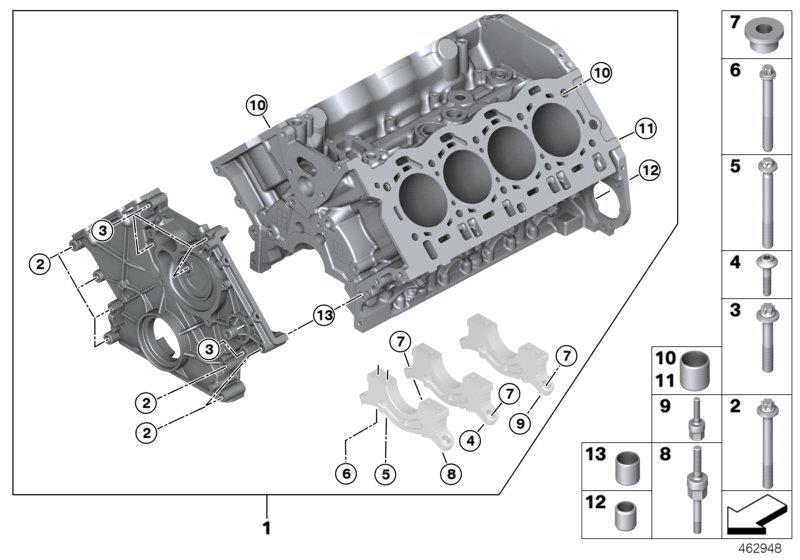 2016 Bmw 750i Hexalobular Socket Screw  M8x75