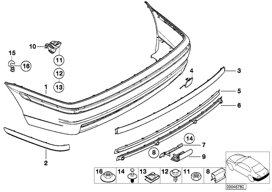 install 2000 bmw 323i trim diagram
