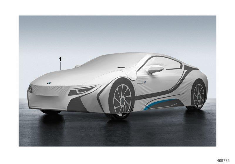 I8 Exterior: 82152413693 - BMW Car Cover. I8. Exterior, Yes