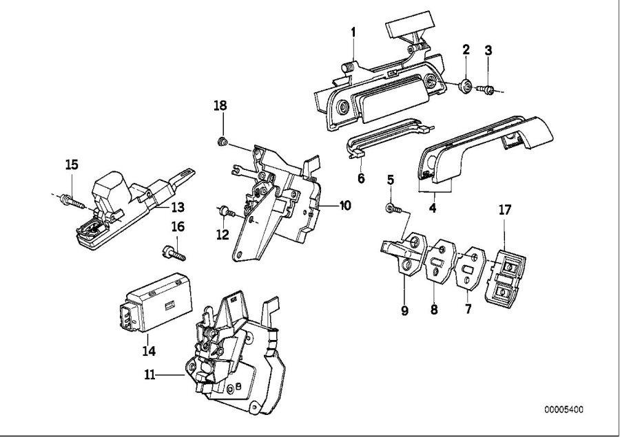 1995 Bmw 525i Torx-countersunk Screw  Isa M6x12  Door  Trim  Body