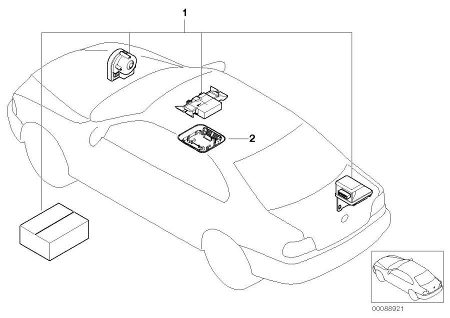 2004 bmw 325xi sedan installation kit alarm system  information  communication