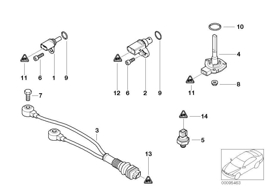 bmw x5 crankshaft engine speed sensor  alpina  system