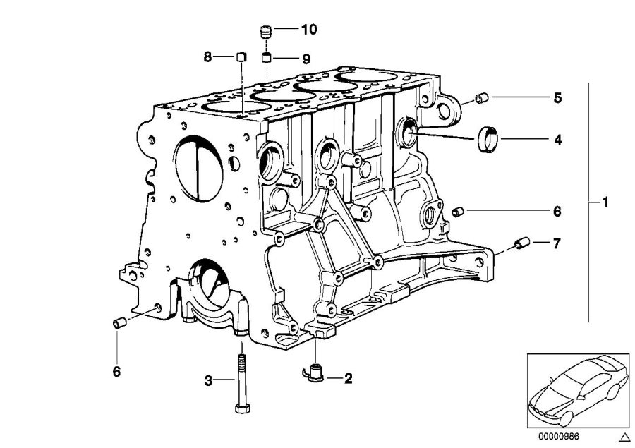 E30 318i Engine Diagram