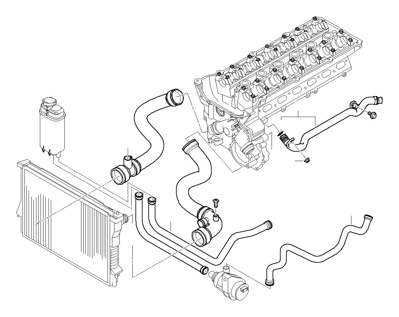 bmw 528i water hose  hoses  engine  cooling