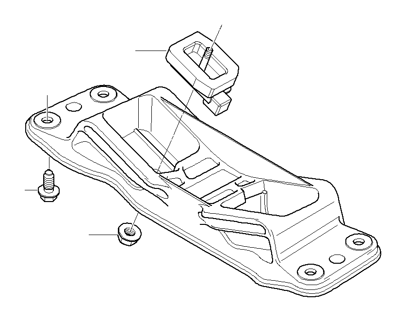 2007 Bmw 525i Cross Member  Gearbox  Suspension
