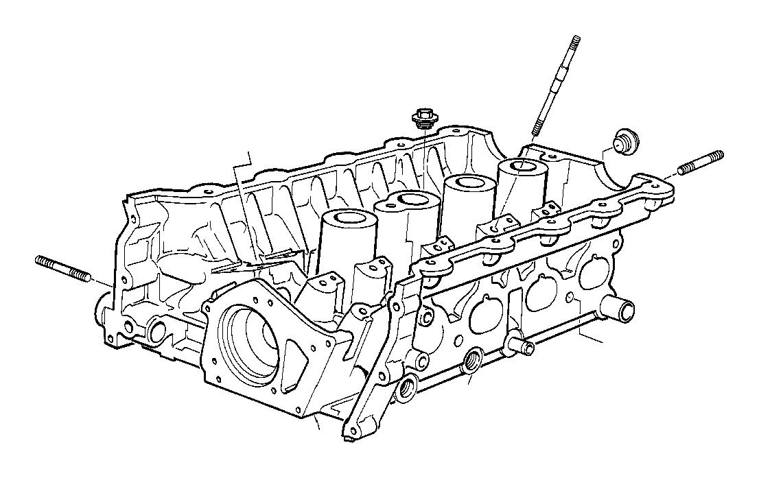 bmw 318i cylinder head with bearing ledges  engine