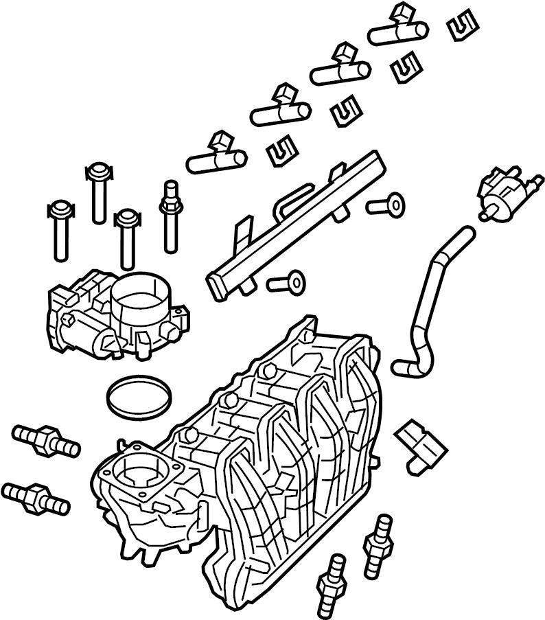 bmw 325i intake manifold  system  engine